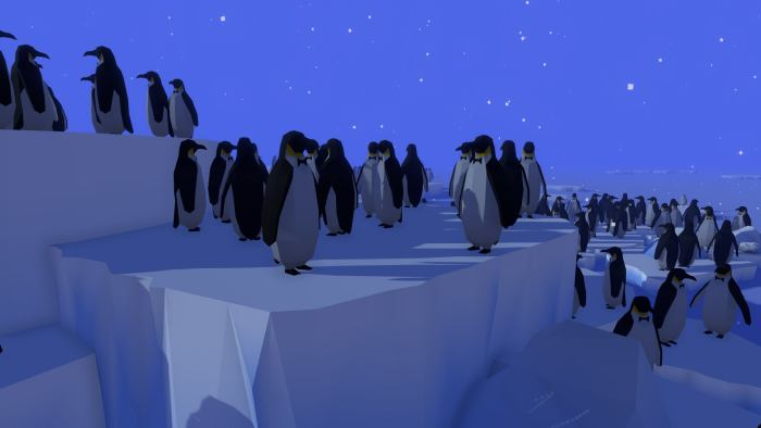 Penguins in Hidden Paws game
