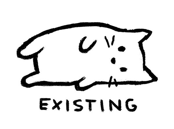 """""""Existing"""" - cat design - by Justyna Dorsz"""