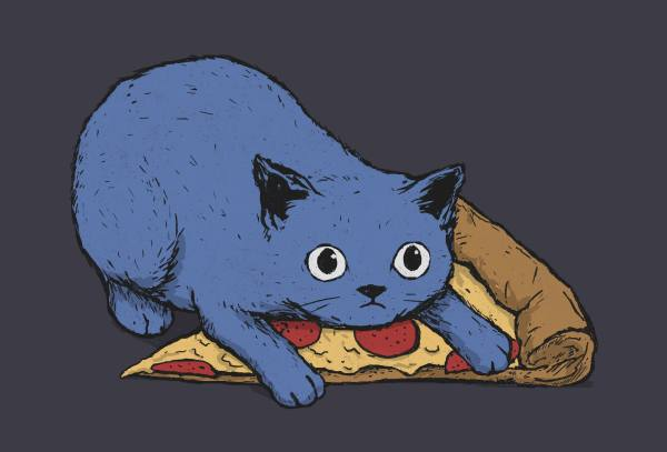 """""""Get your own pizza, human"""" - design by Justyna Dorsz"""