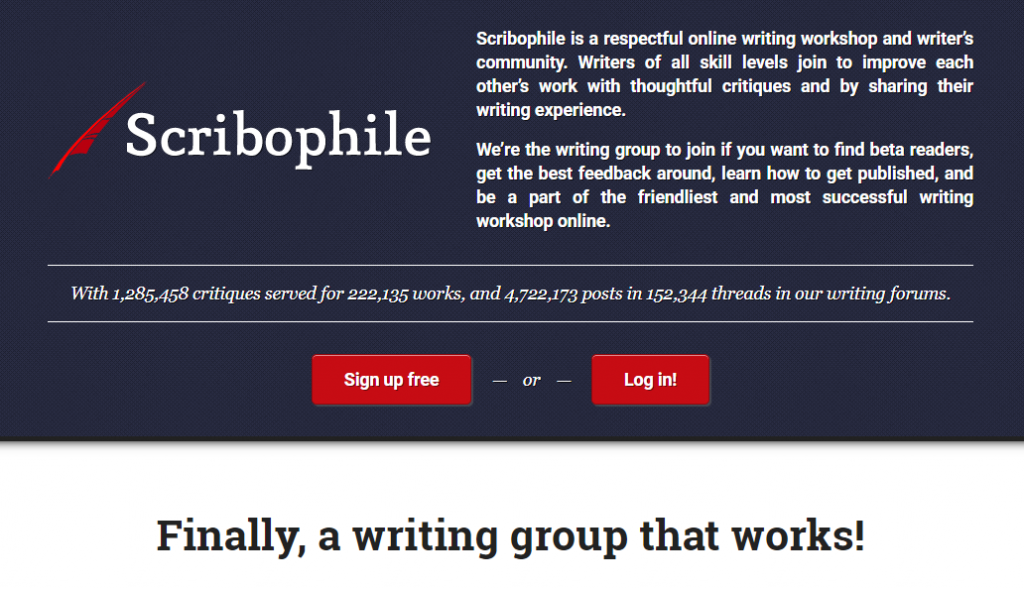 Scribophile - a writing community