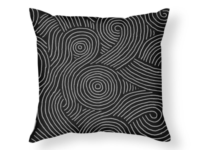 """Zen Maze"" throw pillow"