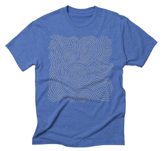 """""""Zen Maze"""" blue t-shirt"""