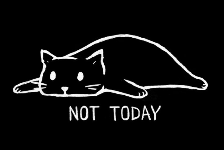"""""""Not Today"""" (Black Variant) by Justyna Dorsz"""