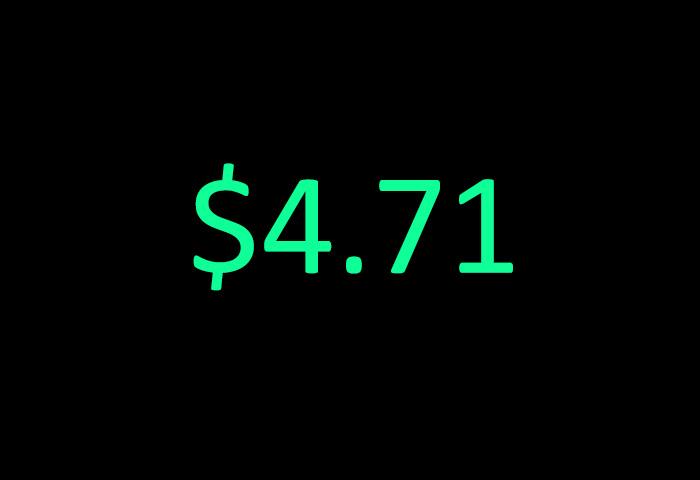 $4.71 - my earnings